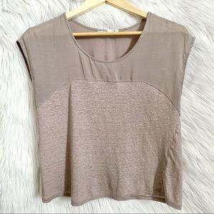 femme softened sleeveless brown shirt blouse | s
